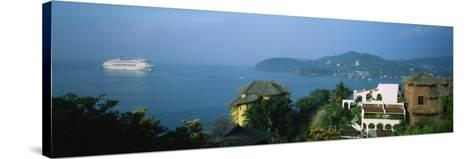 Huts on a Hilltop, Zihuatanejo, Guerrero, Mexico--Stretched Canvas Print