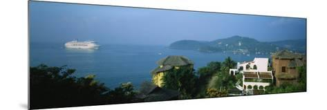 Huts on a Hilltop, Zihuatanejo, Guerrero, Mexico--Mounted Photographic Print