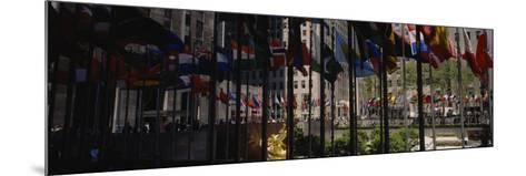 Flags in a Row, Rockefeller Plaza, Manhattan, New York, USA--Mounted Photographic Print