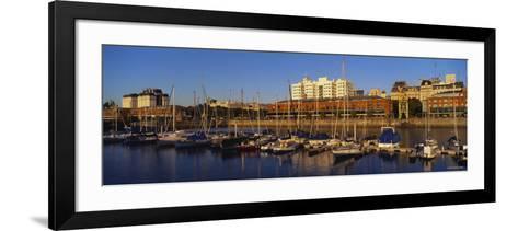 Boats Docked at a Harbor, Puerto Madero, Buenos Aires, Argentina--Framed Art Print