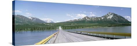 Wooden Bridge over a River, Nenana River, Alaska, USA--Stretched Canvas Print