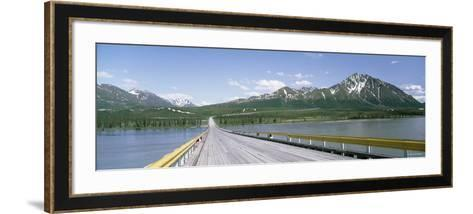 Wooden Bridge over a River, Nenana River, Alaska, USA--Framed Art Print