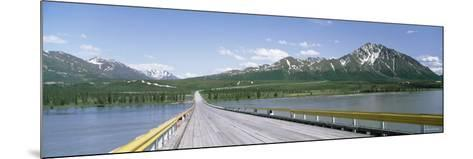 Wooden Bridge over a River, Nenana River, Alaska, USA--Mounted Photographic Print
