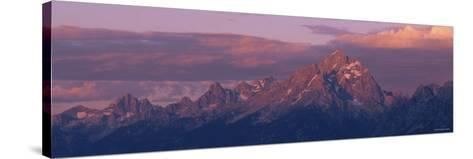 Sunlight over the Mountain Range, Grand Teton National Park, Wyoming, USA--Stretched Canvas Print