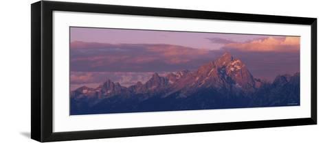 Sunlight over the Mountain Range, Grand Teton National Park, Wyoming, USA--Framed Art Print