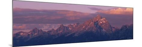 Sunlight over the Mountain Range, Grand Teton National Park, Wyoming, USA--Mounted Photographic Print