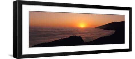 Sunset with Marine Layer, Pacific Ocean, Big Sur, California, USA--Framed Art Print