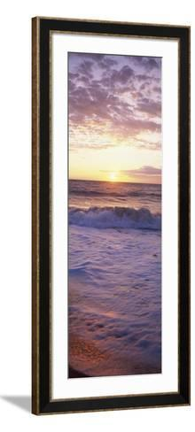 Sunrise over the Sea--Framed Art Print
