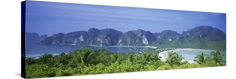 Mountain Range and Trees in the Island, Phi Phi Islands, Thailand--Stretched Canvas Print