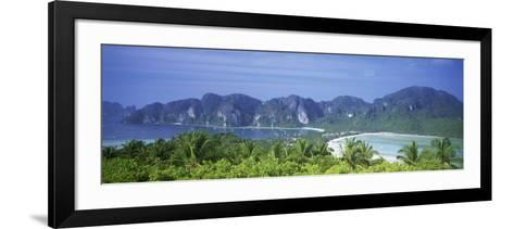 Mountain Range and Trees in the Island, Phi Phi Islands, Thailand--Framed Art Print