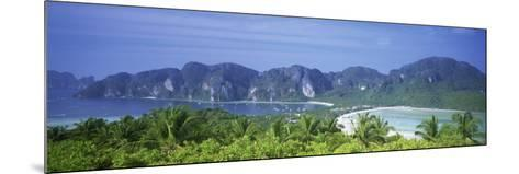 Mountain Range and Trees in the Island, Phi Phi Islands, Thailand--Mounted Photographic Print