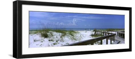 Footbridge on a Beach, St. George Island State Park, Gulf of Mexico, Florida, USA--Framed Art Print