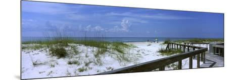 Footbridge on a Beach, St. George Island State Park, Gulf of Mexico, Florida, USA--Mounted Photographic Print