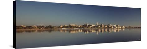 City on a Waterfront, Lake Monona, Madison, Wisconsin, USA--Stretched Canvas Print