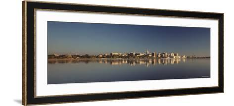 City on a Waterfront, Lake Monona, Madison, Wisconsin, USA--Framed Art Print