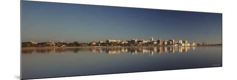 City on a Waterfront, Lake Monona, Madison, Wisconsin, USA--Mounted Photographic Print