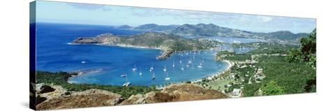 Yachts in a Harbor, English Harbor, Antigua, Caribbean Islands--Stretched Canvas Print