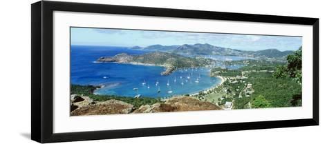 Yachts in a Harbor, English Harbor, Antigua, Caribbean Islands--Framed Art Print