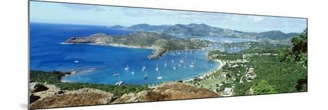 Yachts in a Harbor, English Harbor, Antigua, Caribbean Islands--Mounted Photographic Print