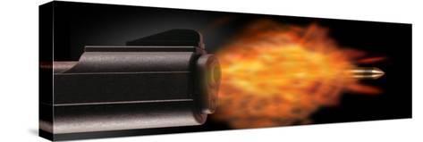 Gun Firing a Bullet--Stretched Canvas Print