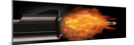 Gun Firing a Bullet--Mounted Photographic Print