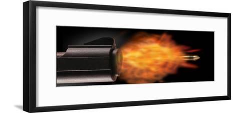 Gun Firing a Bullet--Framed Art Print