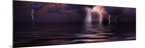 Lightning over the Sea--Mounted Photographic Print