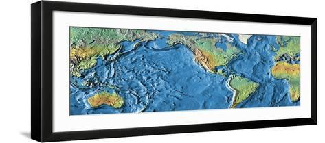 World Map--Framed Art Print