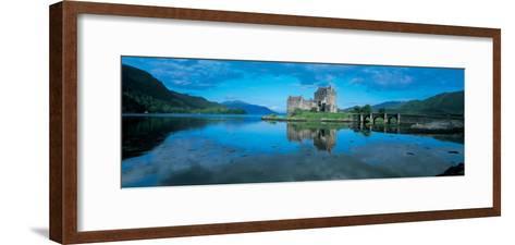 Reflection of a Castle in Water, Eilean Donan Castle, Loch Duich, Highlands, Scotland--Framed Art Print