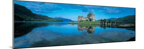 Reflection of a Castle in Water, Eilean Donan Castle, Loch Duich, Highlands, Scotland--Mounted Photographic Print