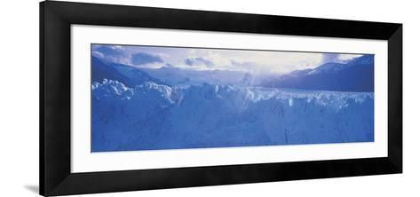 Glacier in a National Park, Moreno Glacier, Los Glaciares National Park, Patagonia, Argentina--Framed Art Print