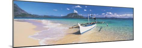Fishing Boat Moored on the Beach, Palawan, Philippines--Mounted Photographic Print