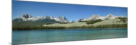 Mountains along a Lake, Sawtooth Mountains, Idaho, USA--Mounted Photographic Print