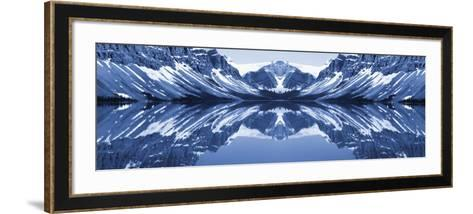 Reflection of Mountains in a Lake, Bow Lake, Banff National Park, Alberta, Canada--Framed Art Print
