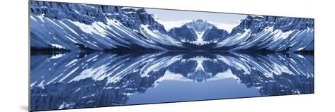 Reflection of Mountains in a Lake, Bow Lake, Banff National Park, Alberta, Canada--Mounted Photographic Print