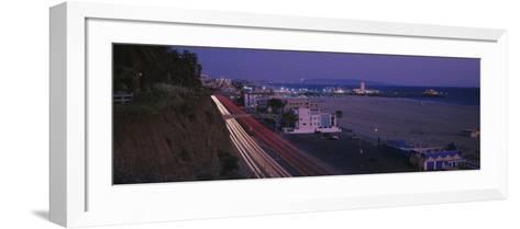 Traffic on a Road, Santa Monica, California, USA--Framed Art Print