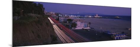 Traffic on a Road, Santa Monica, California, USA--Mounted Photographic Print