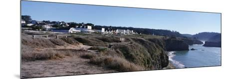 Buildings at the Coast, Mendocino, Mendocino County, California, USA--Mounted Photographic Print