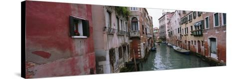 Buildings on Both Sides of a Canal, Grand Canal, Venice, Italy--Stretched Canvas Print