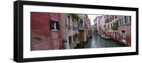 Buildings on Both Sides of a Canal, Grand Canal, Venice, Italy--Framed Art Print