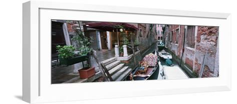 Gondolas in a Canal, Grand Canal, Venice, Italy--Framed Art Print