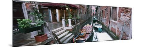 Gondolas in a Canal, Grand Canal, Venice, Italy--Mounted Photographic Print