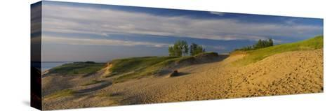 Footprints in the Sand, Sleeping Bear Dunes National Lakeshore, Michigan, USA--Stretched Canvas Print
