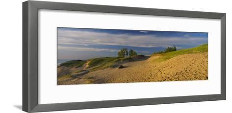 Footprints in the Sand, Sleeping Bear Dunes National Lakeshore, Michigan, USA--Framed Art Print