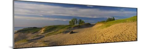 Footprints in the Sand, Sleeping Bear Dunes National Lakeshore, Michigan, USA--Mounted Photographic Print