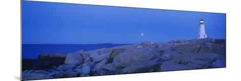 Lighthouse on the Coast, Peggy's Cove Lighthouse, Nova Scotia, Canada--Mounted Photographic Print