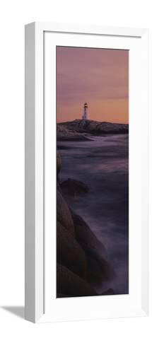 Lighthouse on the Coast, Nova Scotia, Canada--Framed Art Print