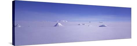 Hills on a Polar Landscape, Mt. Snaefell, Bruarjokull, Central Highlands, Iceland--Stretched Canvas Print
