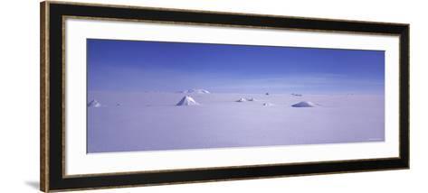 Hills on a Polar Landscape, Mt. Snaefell, Bruarjokull, Central Highlands, Iceland--Framed Art Print