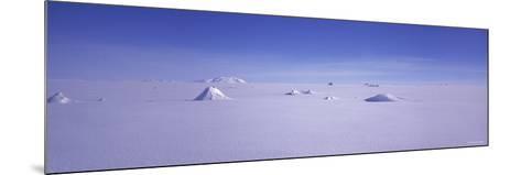 Hills on a Polar Landscape, Mt. Snaefell, Bruarjokull, Central Highlands, Iceland--Mounted Photographic Print